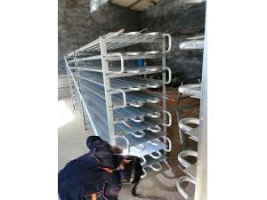铝排管焊接现场